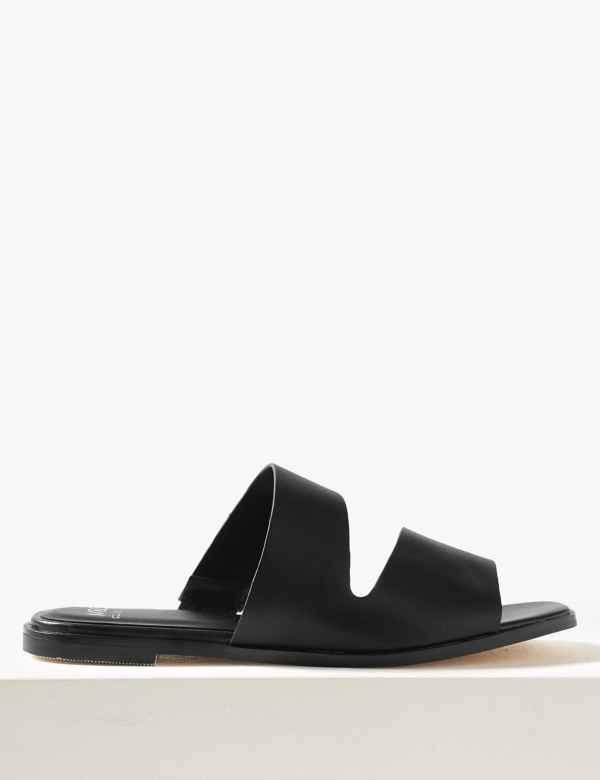 6045c2c62 Asymmetric Mule Sandals. Online Only. M S Collection