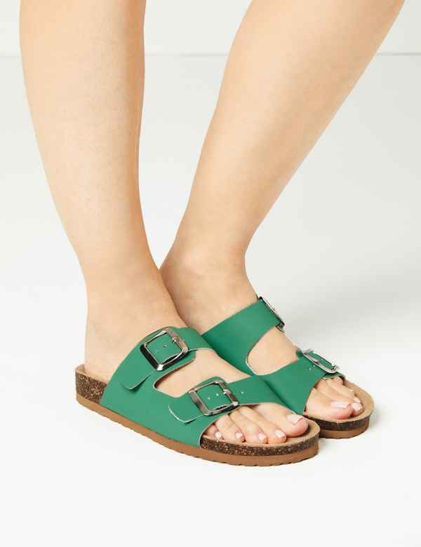 e870efde6 Leather Two Strap Sandals. M&S Collection