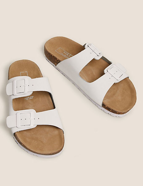 Leather Two Strap Sandals
