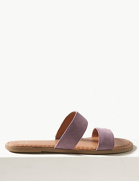 Two Strap Mule Sandals