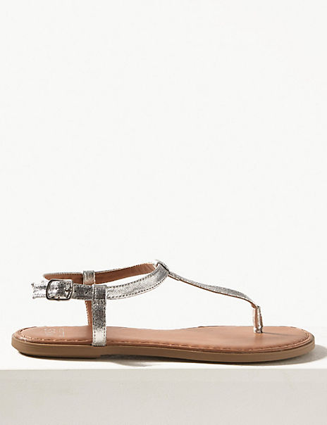 Open Toe T-Bar Sandals