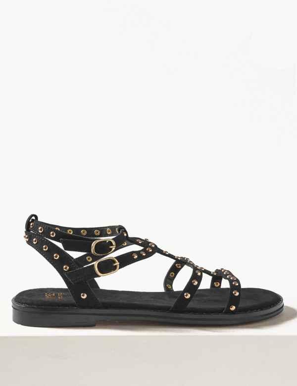 af13d25a7eab Studded Gladiator Sandals