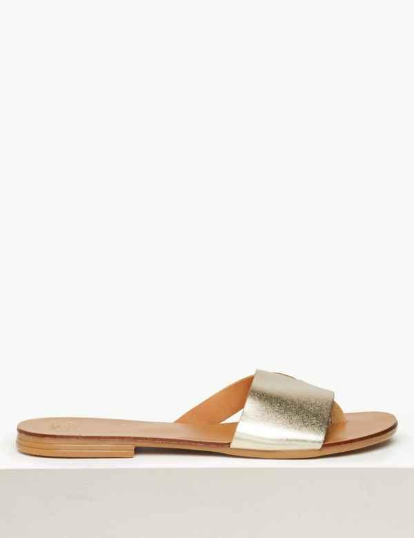 8ec0d343f Leather Mule Sandals
