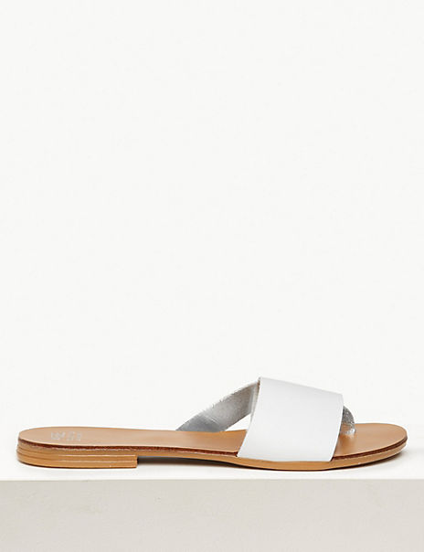 Leather Mule Sandals