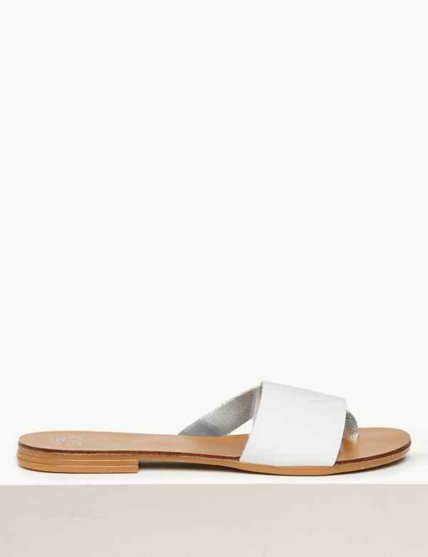 da41cac81166 Leather Mule Sandals