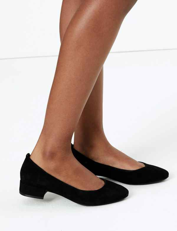 500536f8e96b9 Suede Round Toe Court Shoes