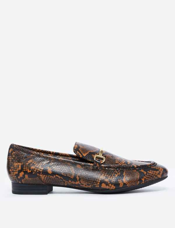 ecb429d79 Leather Bar Trim Loafers