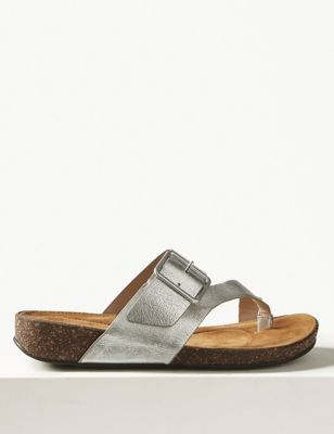 26291e67b8d83 Wide Fit Leather Toe Thong Sandals £45.00