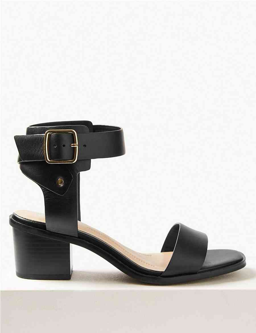 115c8ff02a91 Wide Fit Leather Ankle Strap Sandals