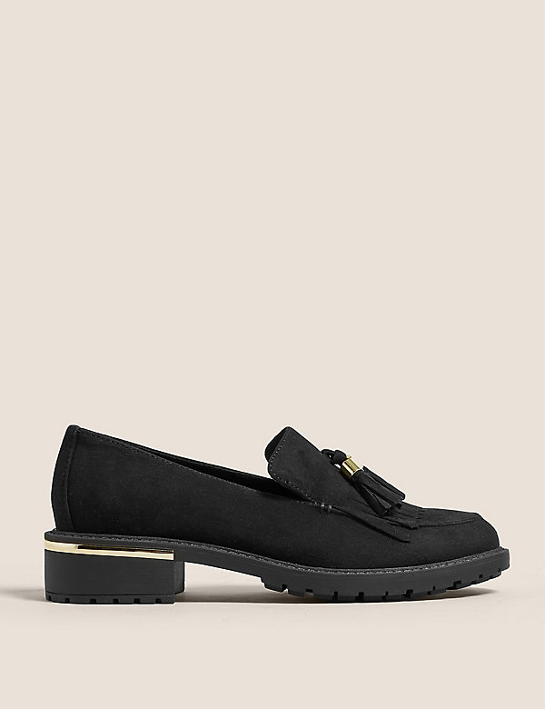 Tassel Block Heel Loafers