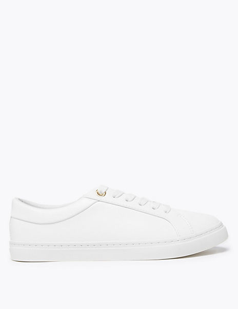 Eyelet Detail Lace Up Trainers