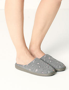 Heart Mule Slippers