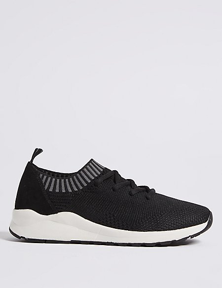 Marks and Spencer Lace-up Trainers grey mix With Credit Card Sale Online Best Place Cheap Online Outlet Pictures vFCZx