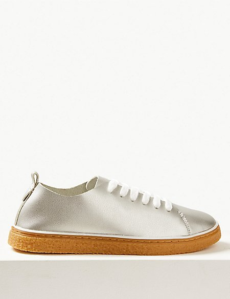 Crepe Lace-up Trainers