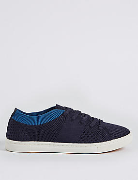 Knitted Lace-up Trainers