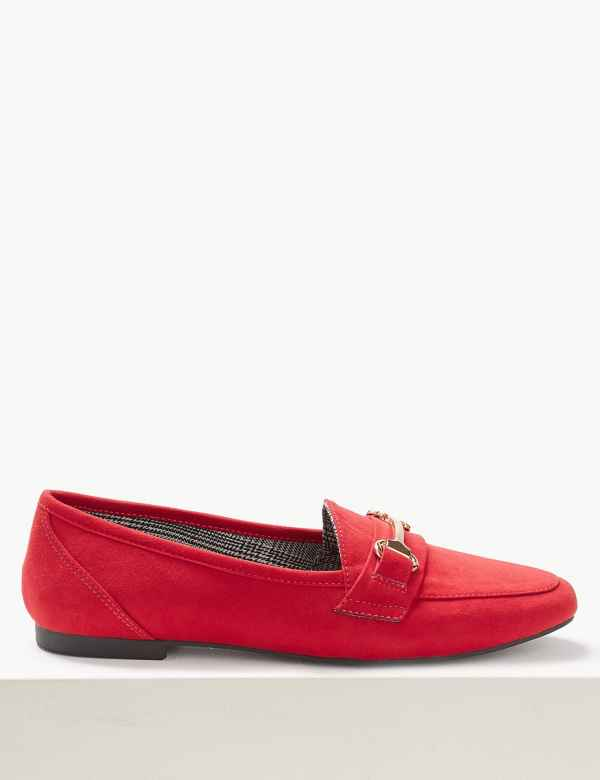 a69334ad527 Metal Trim Loafers