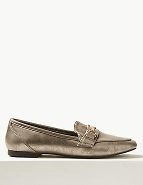 Metal Trim Loafers