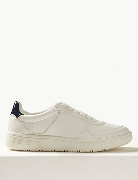 Punch Detail Lace-up Trainers