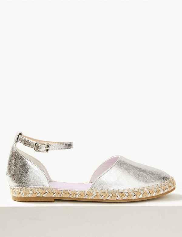 f55f81c7101 Almond Toe Metallic Espadrilles
