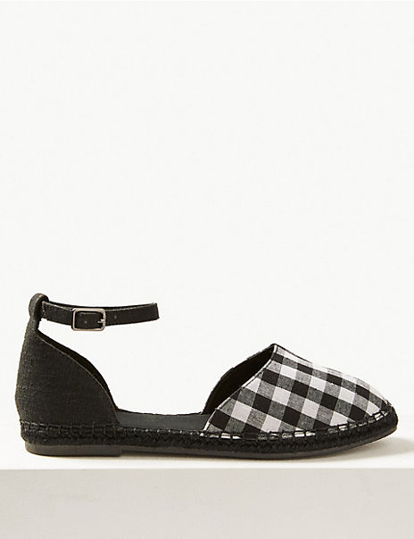 Almond Toe Gingham Espadrilles