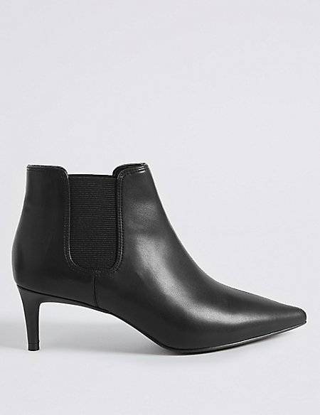 Kitten Heel Ankle Boots with Insolia®