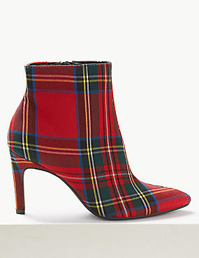 Stiletto Heel Side Zip Ankle Boots