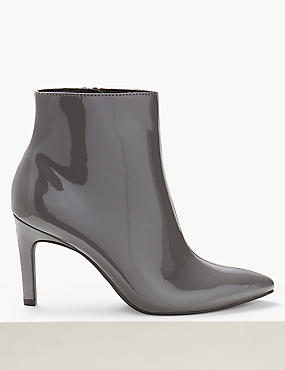 Patent Stiletto Heel Ankle Boots