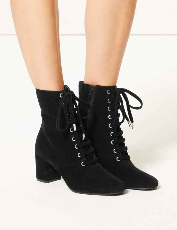 1dcac5c4971d8 Lace-up Ankle Boots. M&S Collection
