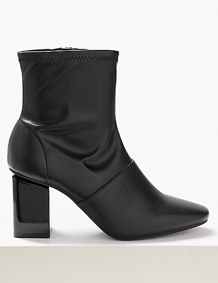 Feature Heel Stretch Ankle Boots