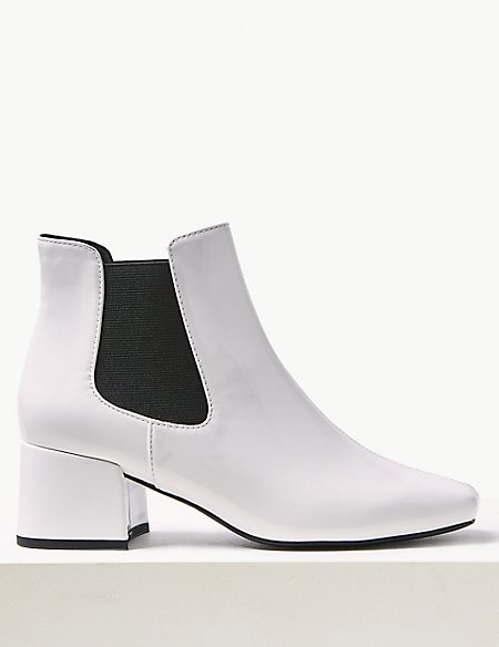 Square Toe Chelsea Ankle Boots