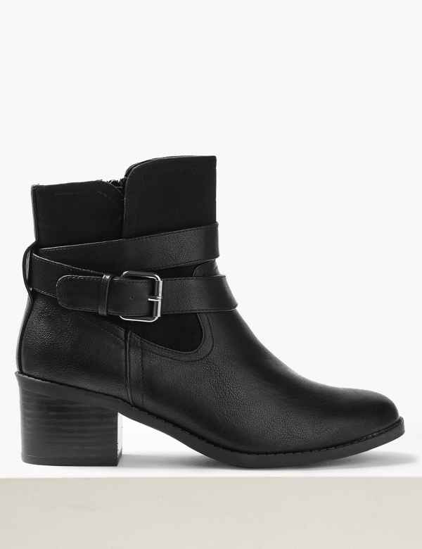 4fe90c4ba30e Buckle Strap Ankle Boots