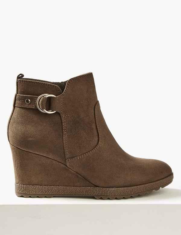 6d5545de48b9c Wedge Heel Ankle Boots