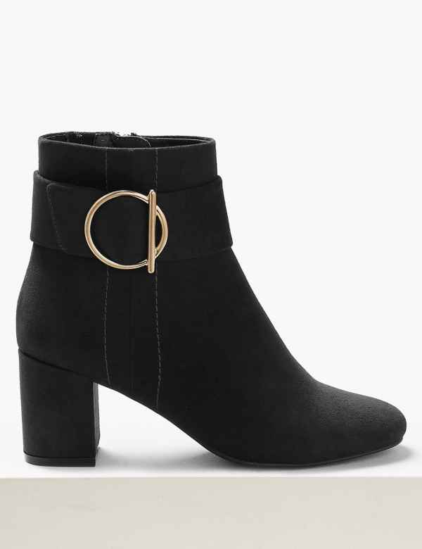 93a655ba0d Side Buckle Ankle Boots. Online Only. M&S Collection