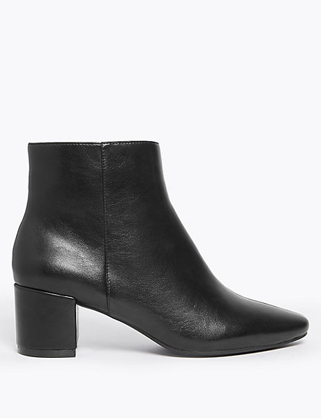 Patent Block Heel Ankle Boots