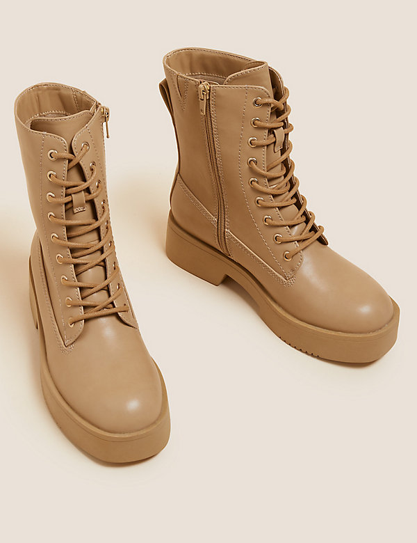 The Chunky Lace-Up Ankle Boots