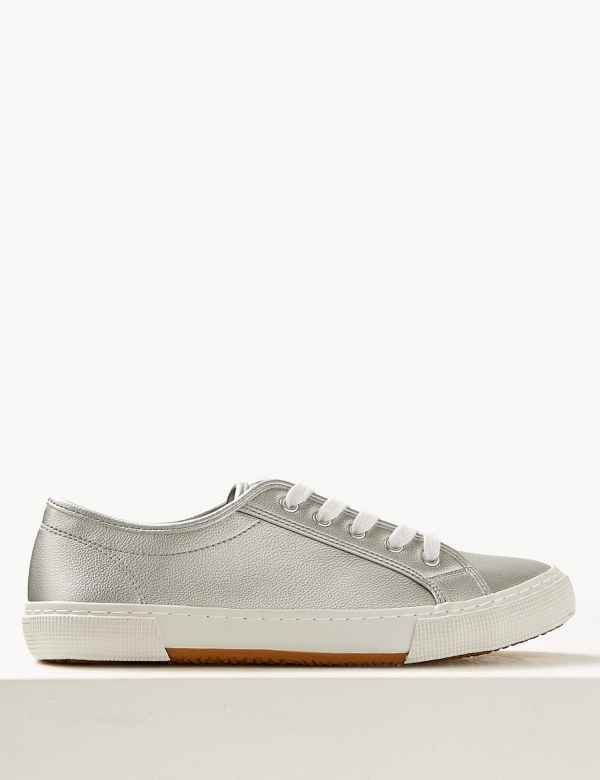 72c50dfbfbd4 Lace-up Trainers. M&S Collection