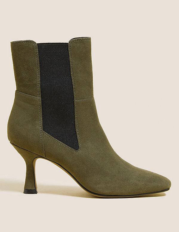 Chelsea Stiletto Heel Square Toe Boots