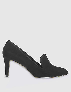 Wide Fit Suede Stiletto Court Shoes
