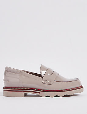 Wide Fit Cleat Sole Loafers