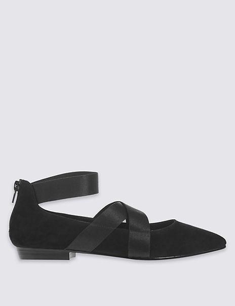 Wide Fit Suede Point Pump Shoes