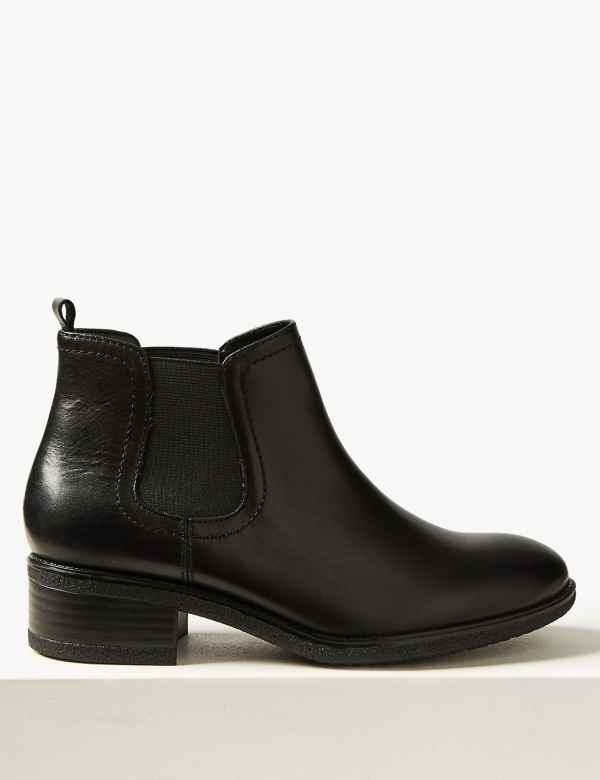 3692e852e7382 Wide Fit Leather Chelsea Ankle Boots