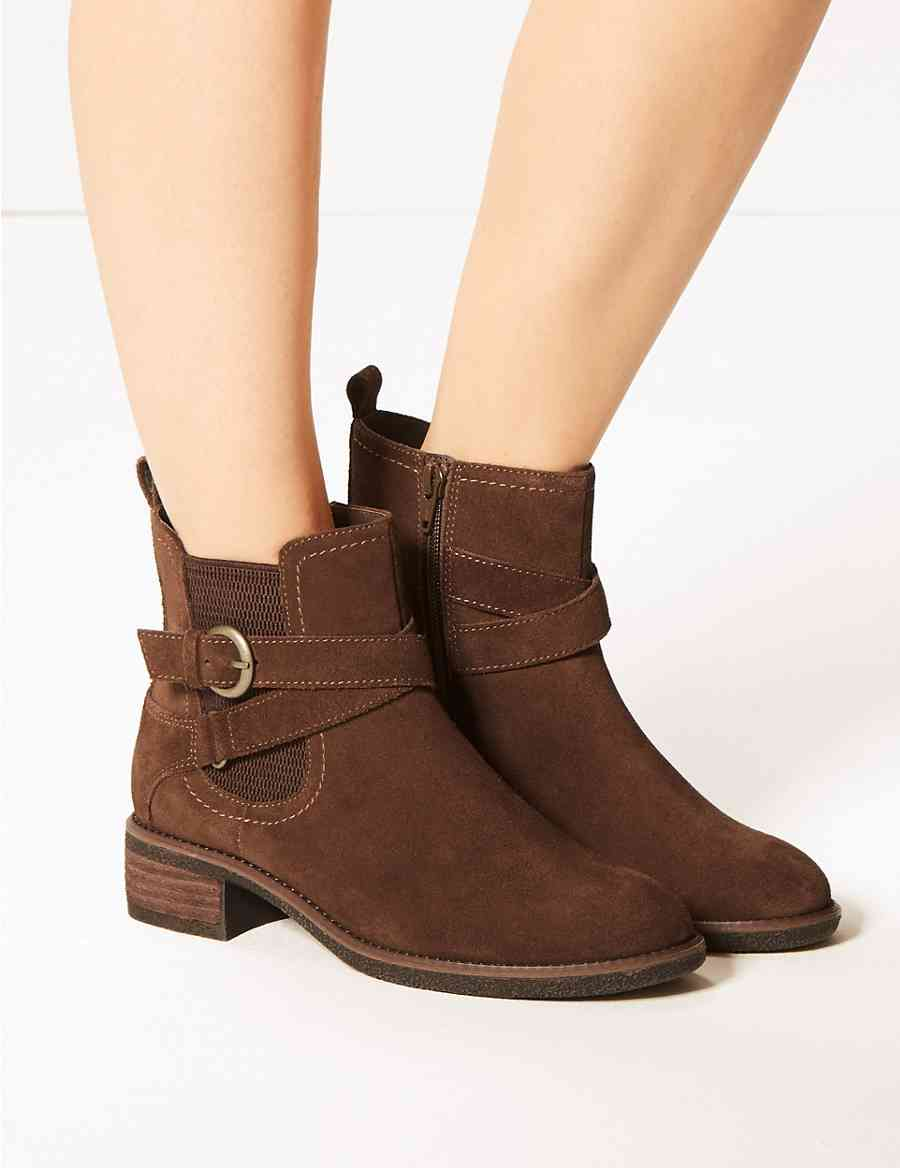 c4276858abb Wide Fit Suede Chelsea Ankle Boots