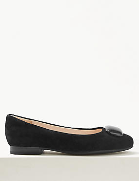 Suede Ballet Pump Shoes