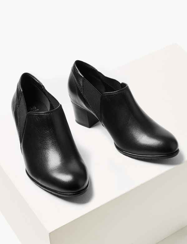 abf737658835 Wide Fit Leather Chelsea Shoe Boots