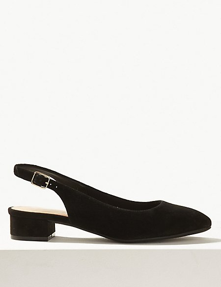 Wide Fit Suede Slingback Shoes