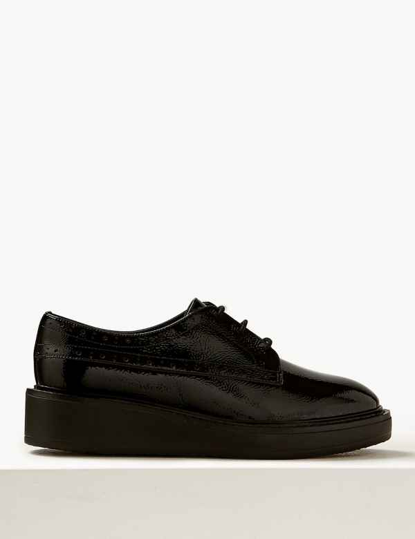 6a0495f3174c Wide Fit Leather Flatform Brogue Shoes