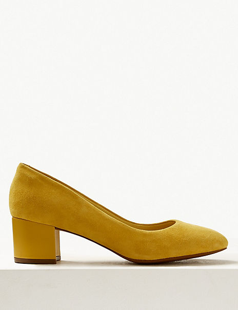 Wide Fit Suede Court Shoes