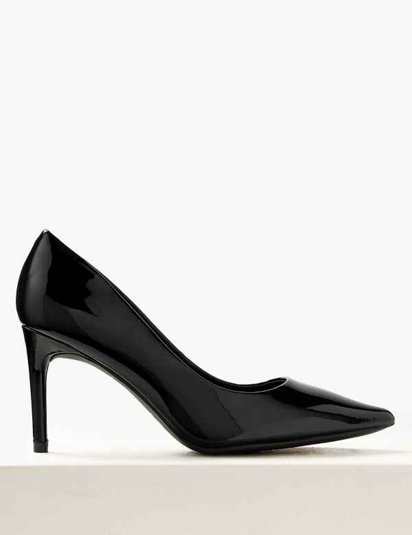 a6eaa030c3a Wide Fit Leather Stiletto Heel Court Shoes