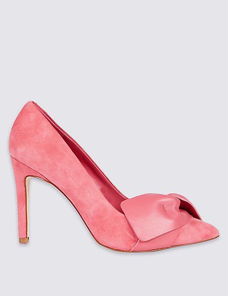 Suede Stiletto Court Shoes with Insolia®