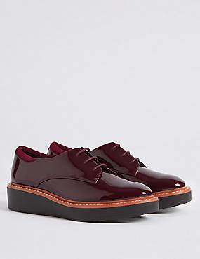 Leather Flatform Brogue Shoes with Insolia®